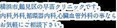 横浜市,鶴見区の早苗クリニックです。内科,外科,循環器内科,心臓血管外科の事ならお気軽にご相談下さい。
